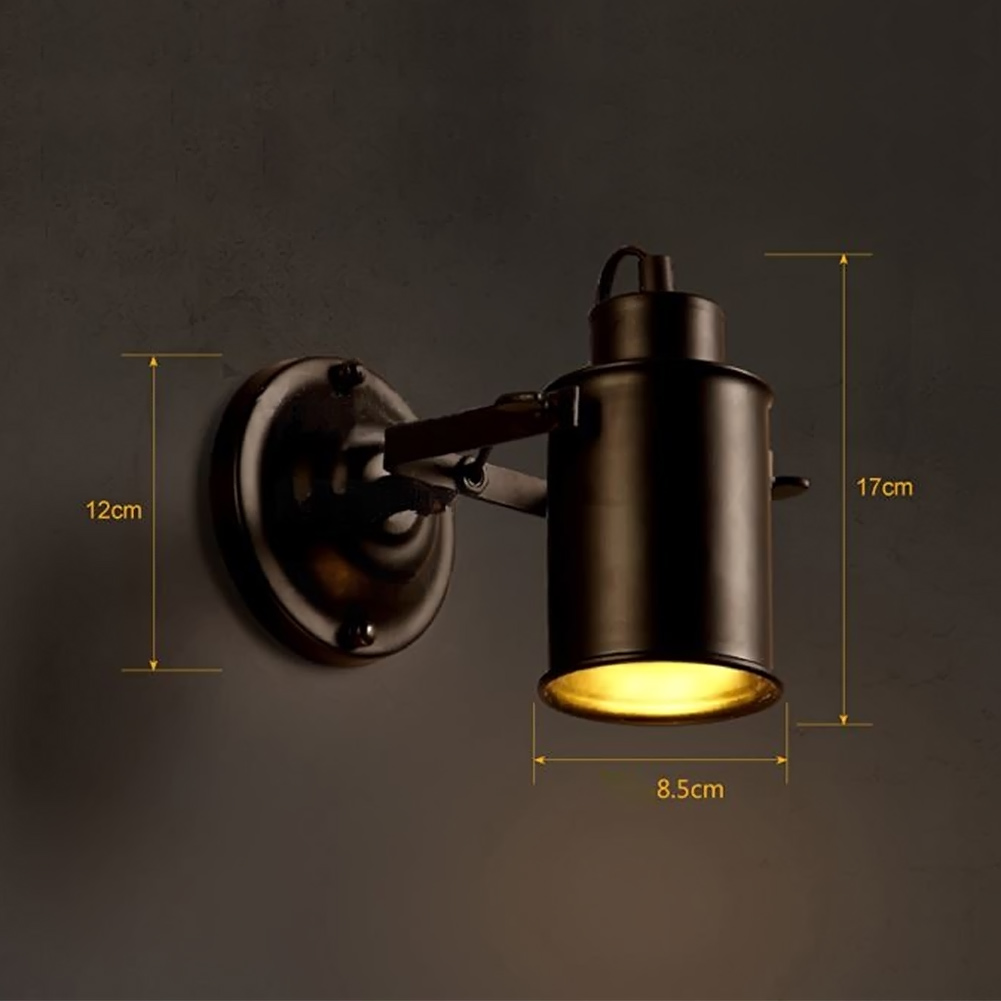 Bedside Wall Mount Light Sconces Retro Industrial Edison Wall Lamp ...
