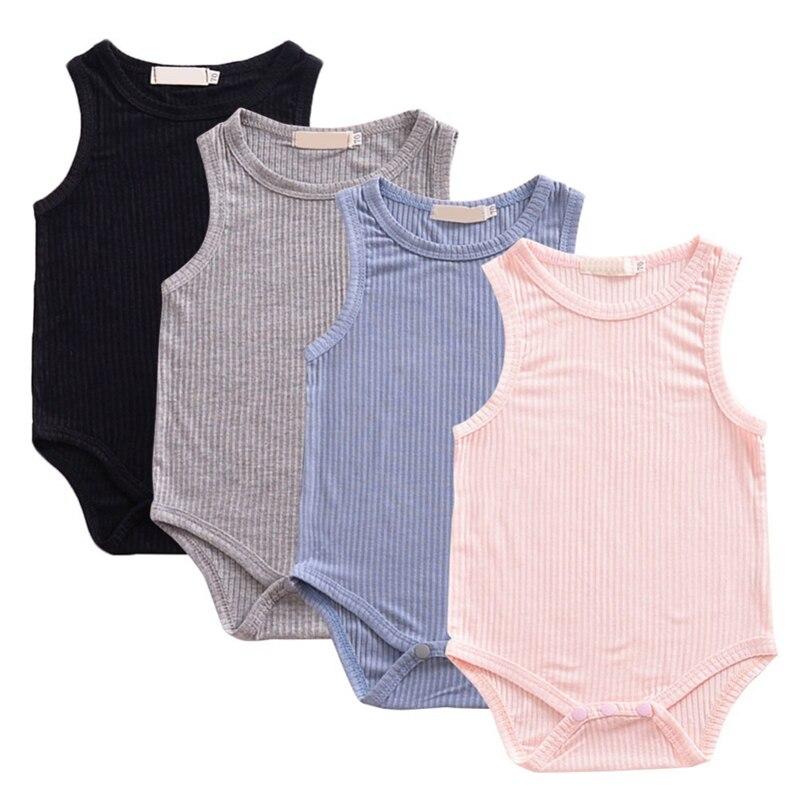 Милый унисекс одежда для малышей комбинезон для младенцев мальчиков девочек Твердые Летний слитный купальник повседневное Playerwear baby Shower Baby ...