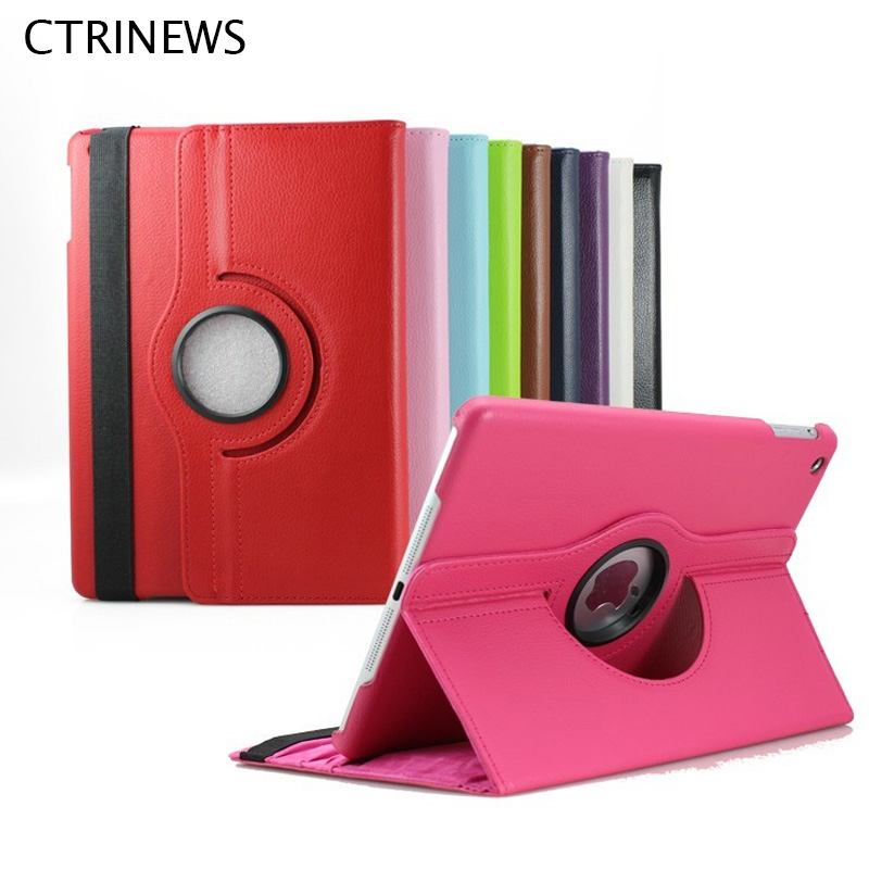 Case For iPad Air 360 Degree Rotating Stand Flip Smart Leather Case Cover For iPad Air