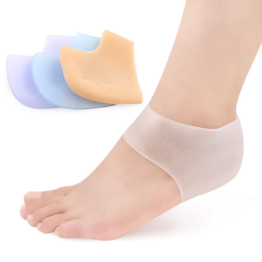 25pairs Foot Care Tool Silicone Heel Protector Sock Anti-Cracked Insoles Pain Relief Health Care Protector Moisturising Sock