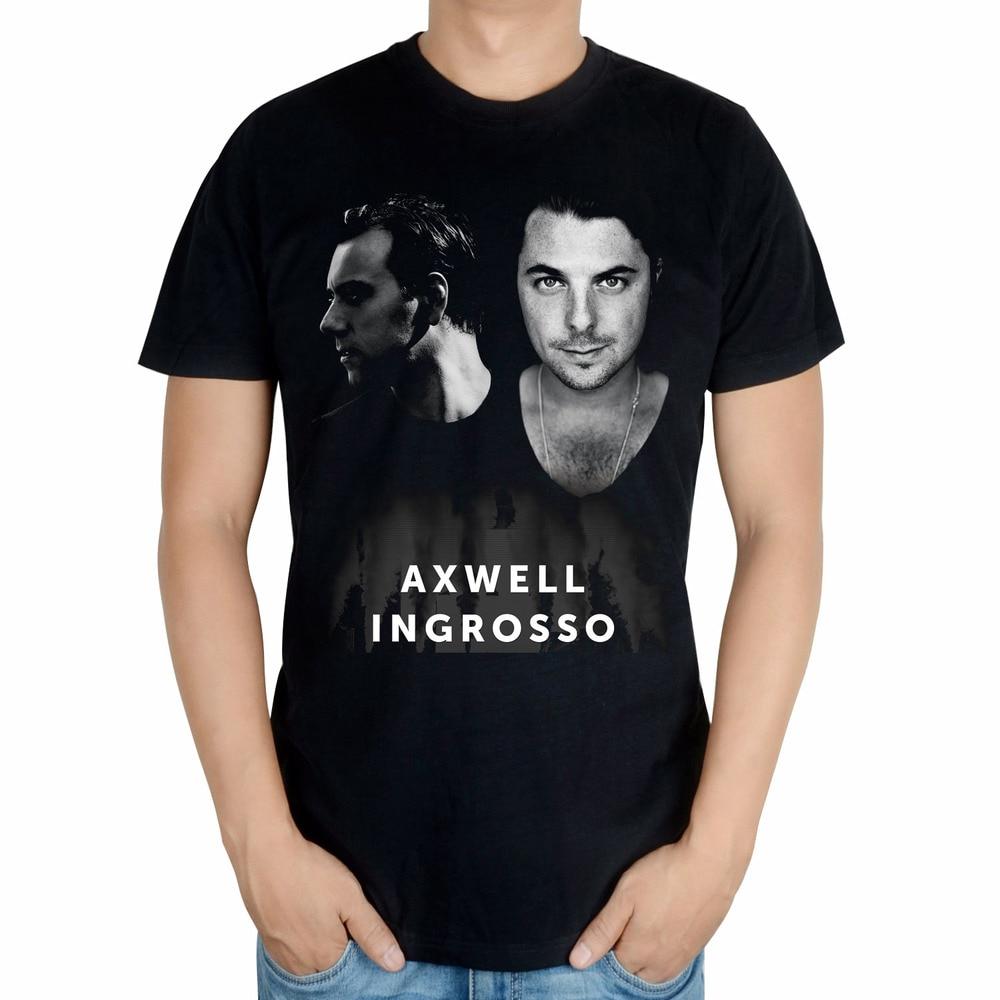Черный летний Стиль крутая Мода AXWELL INGROSSO бренд певец Мужская диджейская футболка mma принт 3D хлопковая футболка музыка фитнес - Цвет: short sleeve