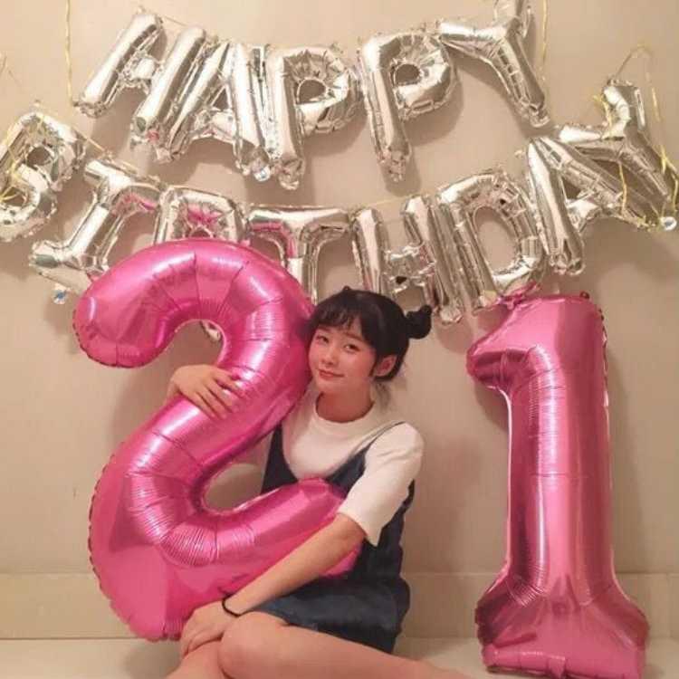 1 unidad 40 pulgadas Rosa oro plata aluminio número globos 0-9 cumpleaños boda compromiso decoración Globo los niños Bola de suministros