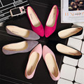 2016 Free shipping  Spring and autumn pointed mouth flat light suede women's shoes and the lowest price for women's shoes