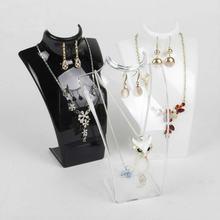 Модные 10 шт/лот черный белый прозрачный акриловый дисплей ожерелье