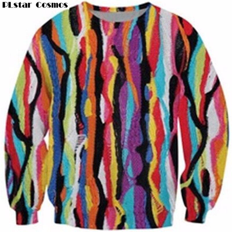 PLstar Cosmos Crewneck Sweatshirt hip-hop Biggie Smalls gemütliche Hoodies Bunte Mode Kleidung Frauen Männer Casual tops Jumper