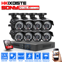 8CH CCTV System 1080P NVR 8PCS 1 0MP 1200TVL Outdoor Indoor HD Mobile P2P CCTV Security