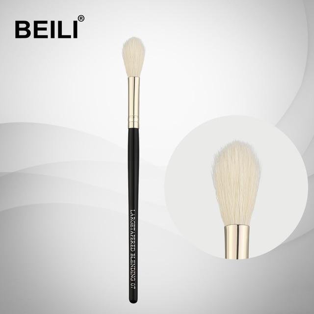 BEILI 07 100% auténtico pelo de cabra mango negro virola de plata resaltar gran mezcla de pelo largo parte simple pinceles de maquillaje
