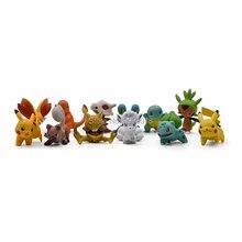 4CM Charmander Cubone Bulbasaur Alola Vulpix Fennekin Chespin Pikachu Squirtle Froakie Rockruff Abra Anime Action Toy Figures