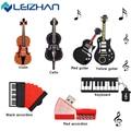 LEIZHAN USB Flash Drive Musical Instrument Gift USB Flash Drive 4GB 8GB 16GB 32GB 64GB Pendrive USB 2.0 Pen Drive Memory Stick