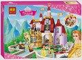 BELA 376 unids de Amigos de Las Niñas Princesa Belle Enchanted Castle Building Blocks Set regalos de Navidad Juguetes Compatible Legoe 41067
