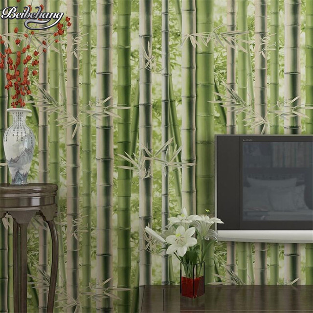 Beibehang Tuin verse bamboe 3d behang modern design behang woonkamer ...