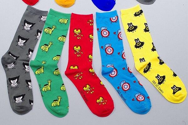font-b-marvel-b-font-comics-hero-knee-high-sock-iron-man-captain-america-the-hulk-batman-superman-spiderman-cartoon-pattern-casual-sock
