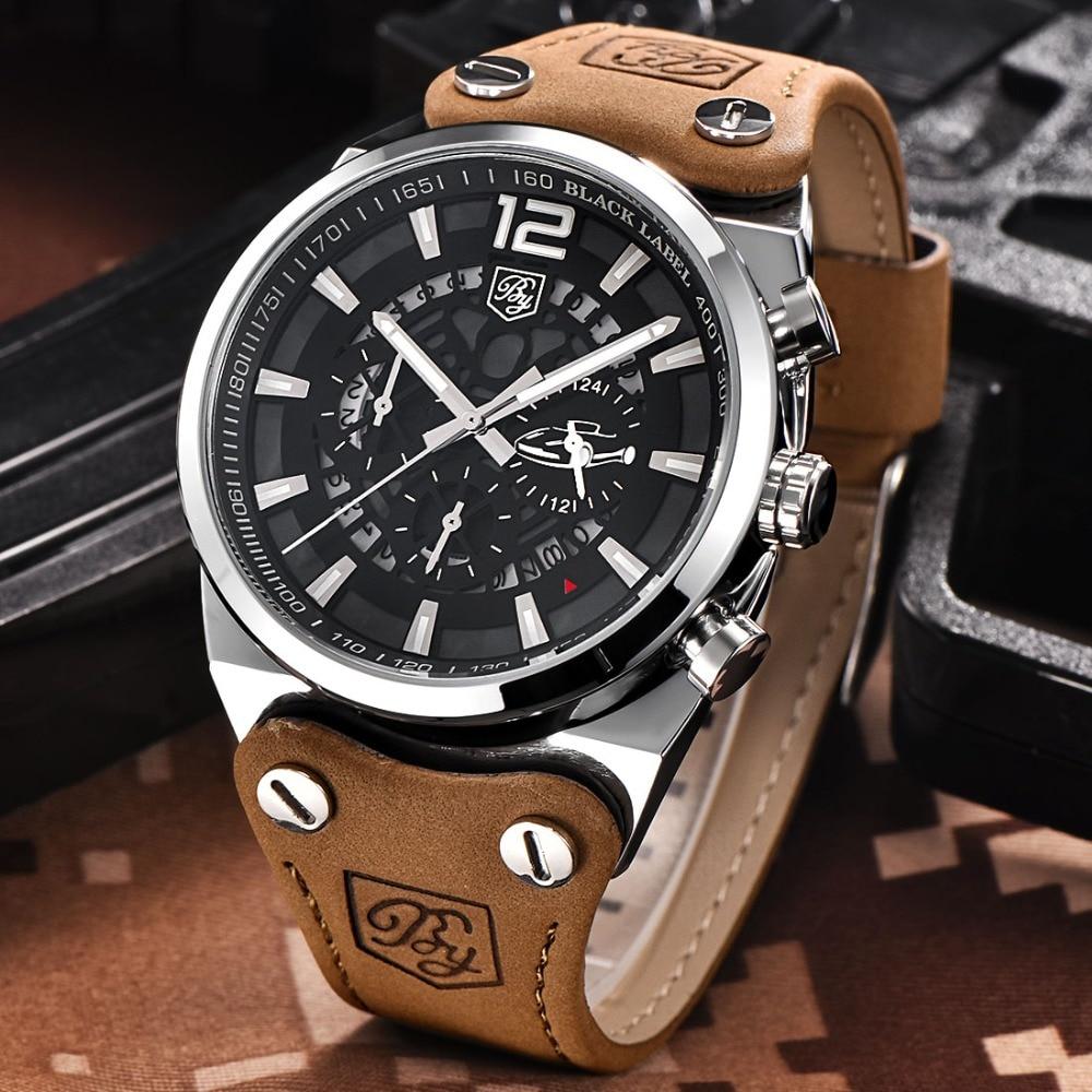все цены на BENYAR Big Dial Men Watches Skeleton Military Chronograph Quartz Man Outdoor Sport Watch Army Male Clock erkek kol saati relojes онлайн