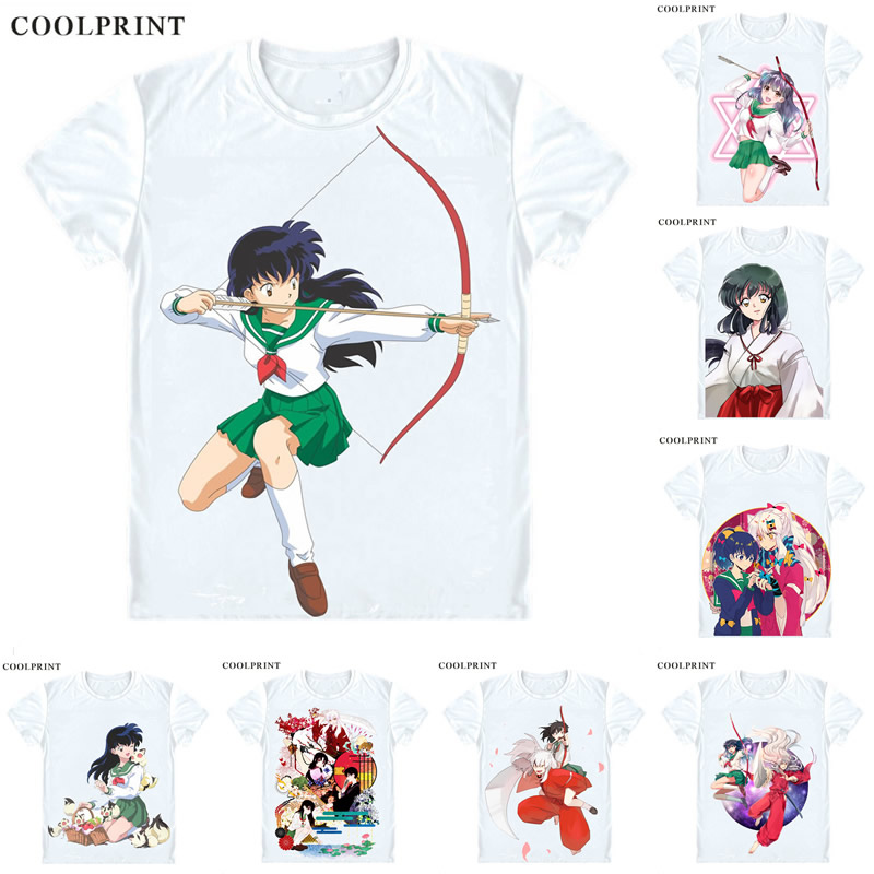 dd2aee88b3ae Detail Feedback Questions about Higurashi Kagome Cosplay T Shirt Inuyasha A  Feudal Fairy Tale Men Casual TShirt Premium T Shirt Printed Short Sleeve  Shirts ...