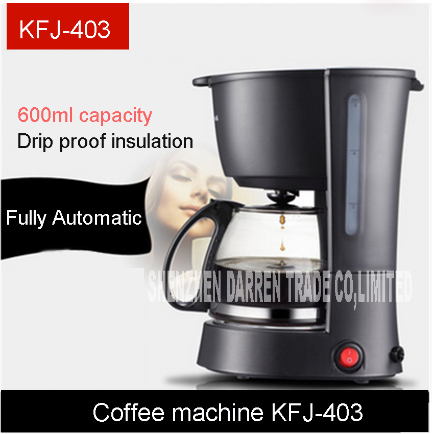 KFJ-403 High-quality Automatic Electric Coffee Maker American household coffee machine drip small automatic tea coffee Hot pot home intelligent fully automatic american style coffee machine drip type small is grinding ice cream teapot one machine