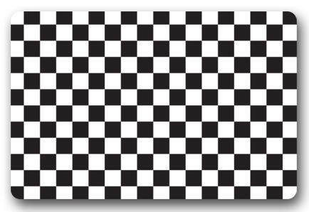Custom 3D Doormat Black And White Grid Carpet Bedroom Grid Rugs Bathroom Doorway Mats Fu ...