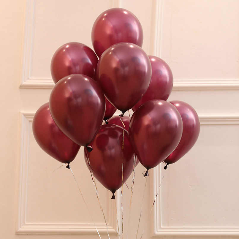 20pcs 12inch 3.2g Pearl Wine Red Latex Balloons Wine Red Birthday Wedding Decoration Party Inflatable Burgundy Color ballons