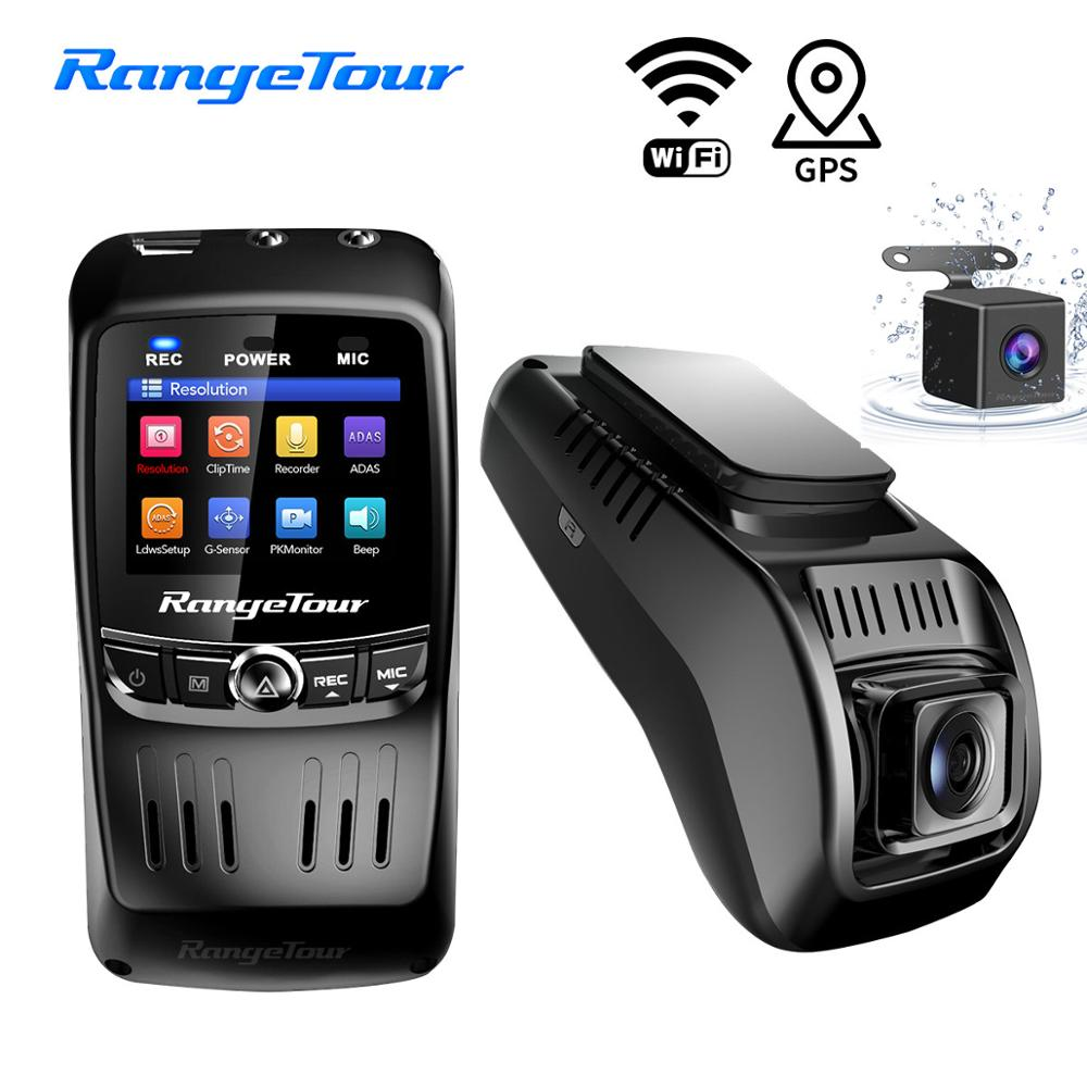 Mini Car DVR Dash Cam WIFI FHD 1296P Car Camera Dual Lens ADAS Video Recorder GPS Track Auto Camcorder Night Vision