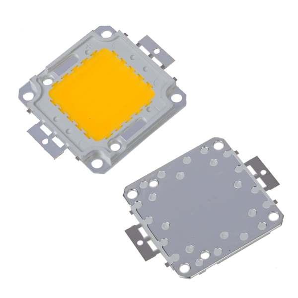 KSOL 50W Chip LED per Lampada Faretto Luce Bianco Caldo(Warm white)