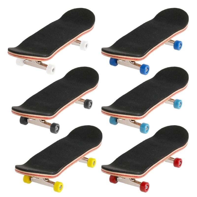 Free Shipping 1Set Wooden Deck Fingerboard Skateboard Sport Games Kids Gift Maple Wood Set New