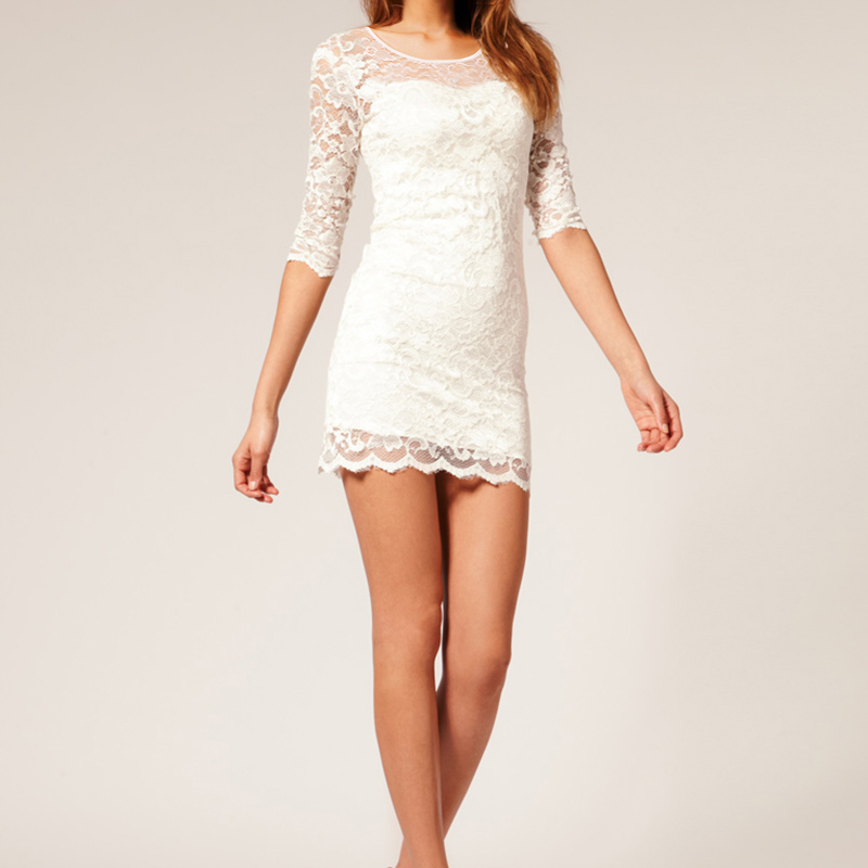 Bodycon Peplum Floral Lace Dress - Fashion Trendy Shop