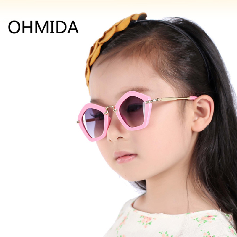 OHMIDA Fashion Kids Sunglasses Child Boys Girls Pink Sun Glasses High Quality UV400 Sun  ...