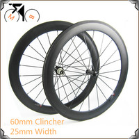 700C Aero Shape 60mm Carbon Clincher Wheelsets 25mm U Shape Widely High Tg Clincher Wheelsets For