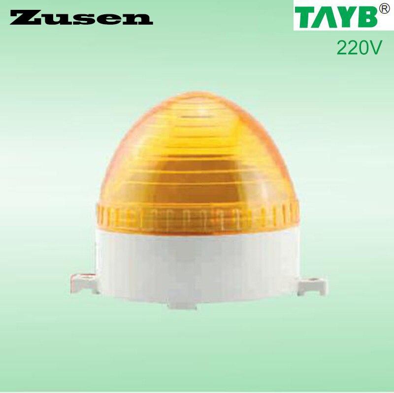 Zusen TB60 220V yellow led small Signal Warning Light LED Lamp small Flashing Light 8 led flashing yellow light caution warning lamp with magnetic mount holder