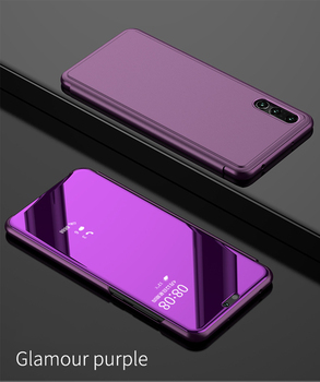 Clear View Smart Mirror Phone Case For Xiaomi 9 9 SE Cases Fashion Flip Stand Leather For Xiaomi Redmi Note 5 7 7 Pro Cover