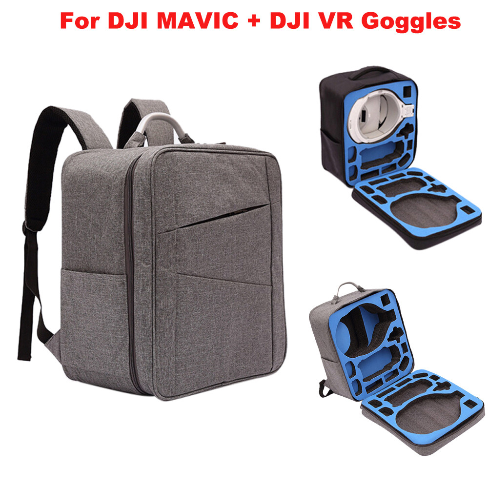 Outdoor Waterproof case Shoulder Bag For DJI Mavic Pro RC Drone + DJI VR Goggles NEW Accessories Pro Remote Control