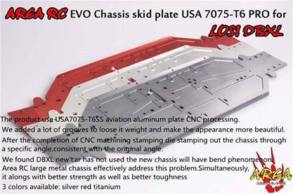 RC EVO Chassis skid plate 7075 For Losi DBXL gmd losi dbxl shcok dust cover pull starter cover air filter cover for 1 5 losi dbxl gas engine zenoah cy rc cars