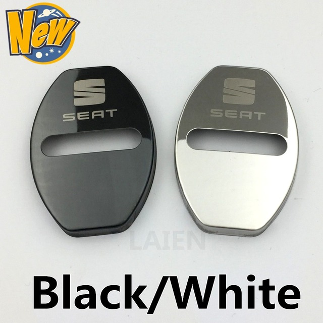 Stainless Steel Car Covers Door Lock Cover Case For Seat Leon