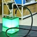 New Acrilico Tubo di Shisha Narghilè Set con la Luce del LED Narghilè Ciotola Silicone Tubo Primavera del Carbone di legna Pinze Chicha Narguile Accessori