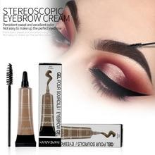 Waterproof HANDAIYAN eyebrow gel cosmetics long-lasting eyebrow enhancers 6 colors available easy to wear 36pcs/lot DHL free