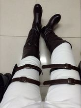 Attack on Titan Cosplay Brown Long Boots (2 colors)
