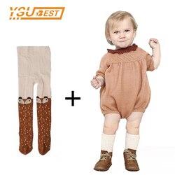 Осень 2017 г. с длинным рукавом для маленьких девочек Комбинезон вязаное платье 0-5yrs трикотажные Детские Комбинезоны для малышек хлопок детск...