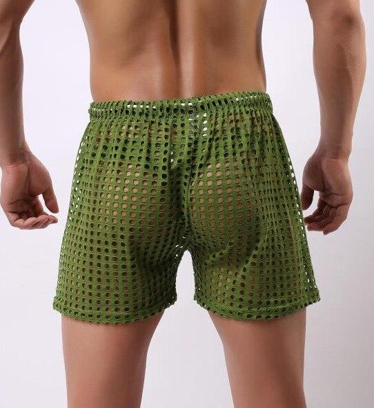 Главная мужской шорты эластичный нейлоновый ремень шорты мужчины чистый аро свободные мужчины почти обнаженной