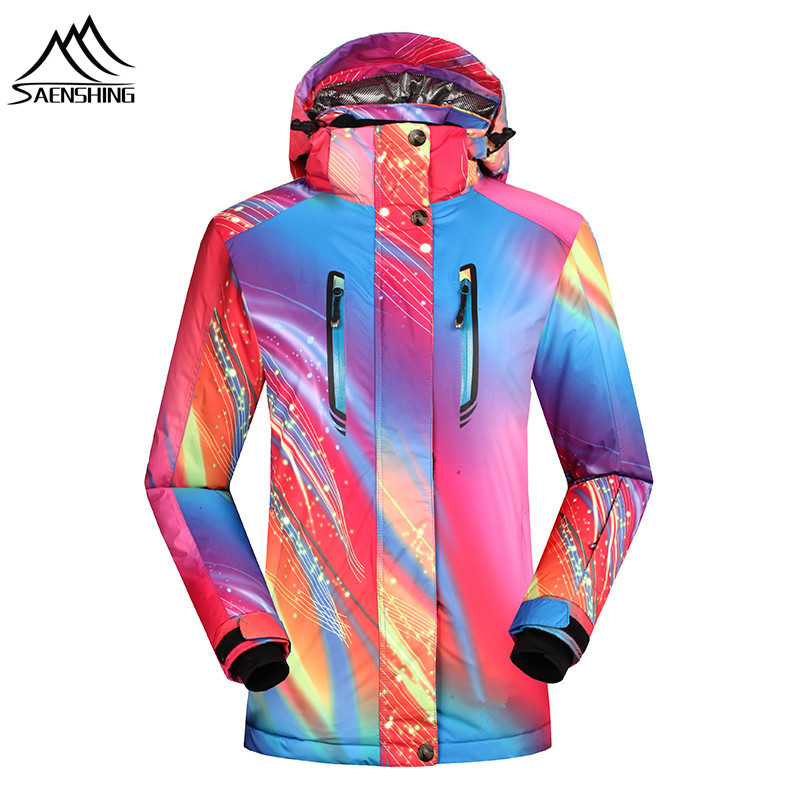 Saenshing Women ski jacket Waterproof 10000 Winter warm snowboarding jackets breathable outdoor skiing snow jacket ski clothes dropshipping 2015 rossignol winter snowboarding jacket ski snow jacket women waterproof breathable windproof skiing jackets
