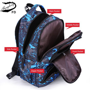 Image 4 - Fengdong 3pcs תלמיד תיק סט תיכון שקיות עבור בני bagpack ילדים גדול עמיד למים תרמיל ילד כתף תיק עט קלמר