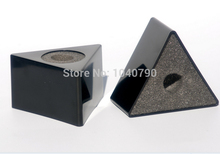 ABS material triangle interview microphones microphone sticker triangle black box