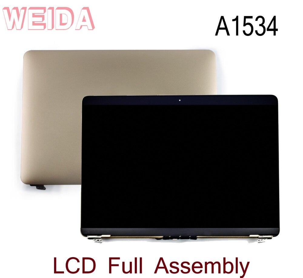 WEIDA 95% Nuevo LCD de 12 pulgadas para Macbook Retina A1534 pantalla táctil completa reemplazo de montaje A1534 oro/ plata/gris