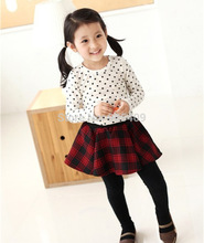 Toddler Baby Girls Polka Dot Long Sleeve T-shirt Casual Cotton Tops Blouse