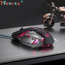 CEL 3500 DPI 6 Button Optical Custom Macros USB Wired Gaming Steel Mouse Mice