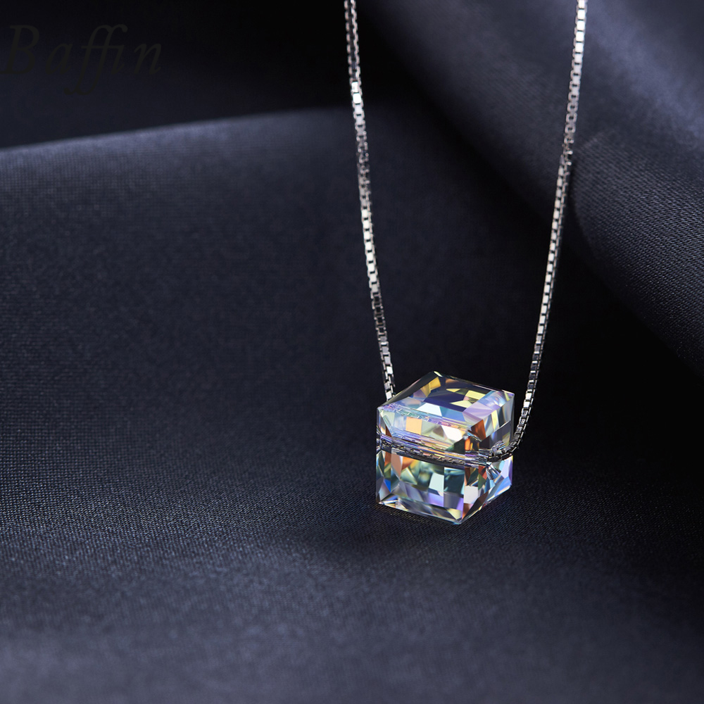 BAFFIN kristallid SWAROVSKI Cube helmestest Kaelakee ripatsid 925 - Mood ehteid - Foto 3