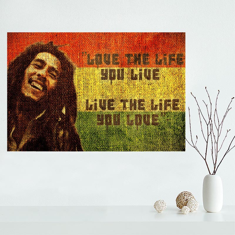 Nice Bob Marley HD Poster Custom Canvas Poster Art Home Decoration ...
