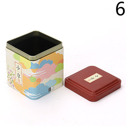 1PC Vintage Tea Caddy Pastoral Candy Tin Mini Iron Storage Boxes Sealed Coffee Powder Cans Tea Leaves Container Metal Organizer Islamabad