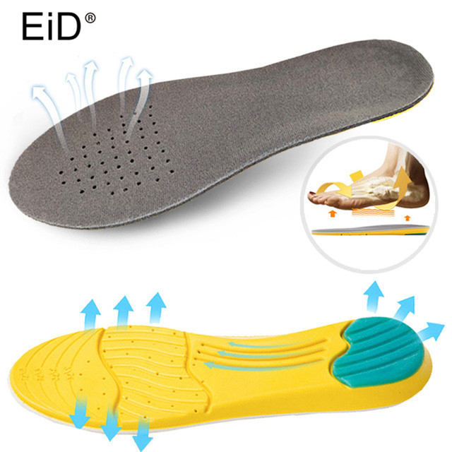 Memory foam sports Insole for shoes shock absorption breathable comfortable men women thick shoe sole pads inserts accessories