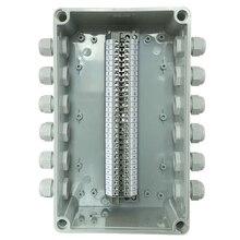 IP65 водонепроницаемая кабельная распределительная коробка 250*150*100 мм с UK2.5B din-рейку клеммные блоки Набор 12 способов