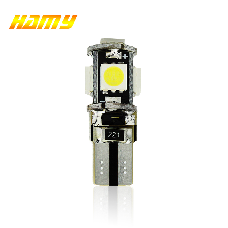 1x Car T10 W5W LED Signal Bulb CANBUS Super Bright Auto Interior Dome Reading Light Turn Brake License Plate Wedge Side Lamp 12V
