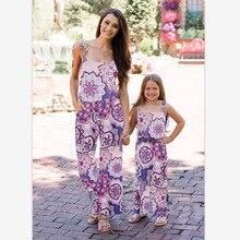 Floral Print Jumpsuits Women Tunic Boho Fashion Lady Spaghetti Strap Long Trousers Sexy Jumpsuit Sleeveless Loose Beach